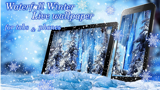 Waterfall Winter Live wallpaper - náhled