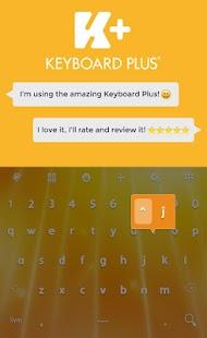 Yellow Animated Keyboard - náhled