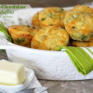 Broccoli Cheddar Corn Muffins.