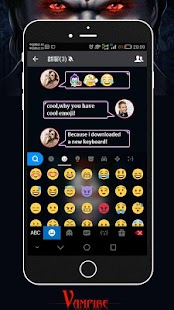 Keyboard - Vampire Scary Free Emoji Theme - náhled