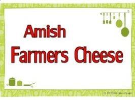 Amish Farmers Cheese Recipe