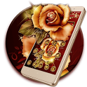 Golden Red Luxury Rose Theme icon