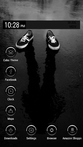 android Icy black shoes theme Screenshot 0