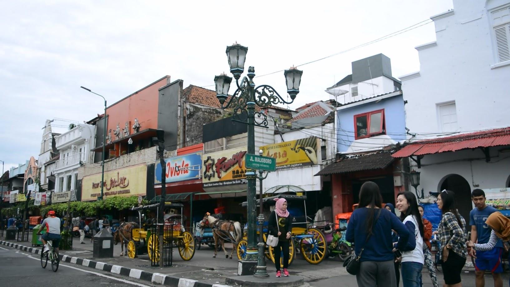 Lokasi khas untuk berfoto di Jalan Malioboro Yogyakarta