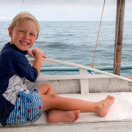 Boating by Geoffrey Wols - Babies & Children Toddlers ( seat, girl, boy, water, boat, kids,  )