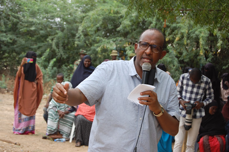 Garissa Township MP Aden Duale in Bula Medina on March 4, 2020