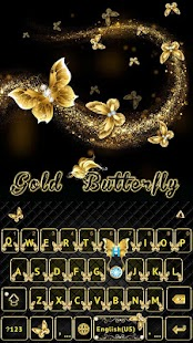Gold Butterfly Kika Keyboard - náhled