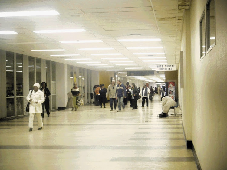 Patients in the central corridor of the Charlotte Maxeke Academic Hospital. Picture: DANIEL BORN/THE TIMES