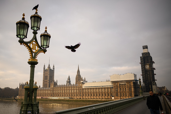 Birds are seen near to the Houses of Parliament as the week begins on January 21 2019 in London, England. Picture: GETTY IMAGES/ LEON NEAL