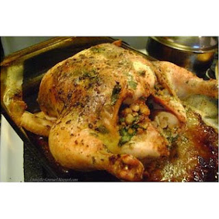 Roasted Oven Stuffer Chicken.