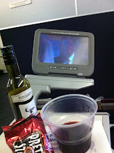 Photo: Having a party on United Airlines - on way to Tokyo.
