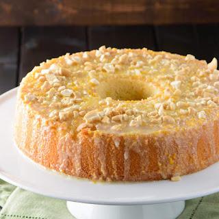 Orange Glazed Chiffon Cake