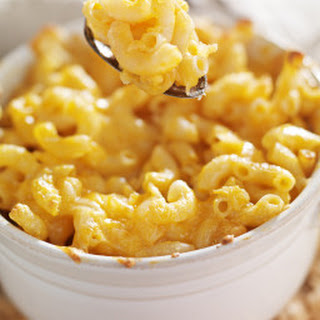 Four Cheese Baked Macaroni And Cheese.