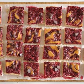 Raspberries Peanut Butter Bars