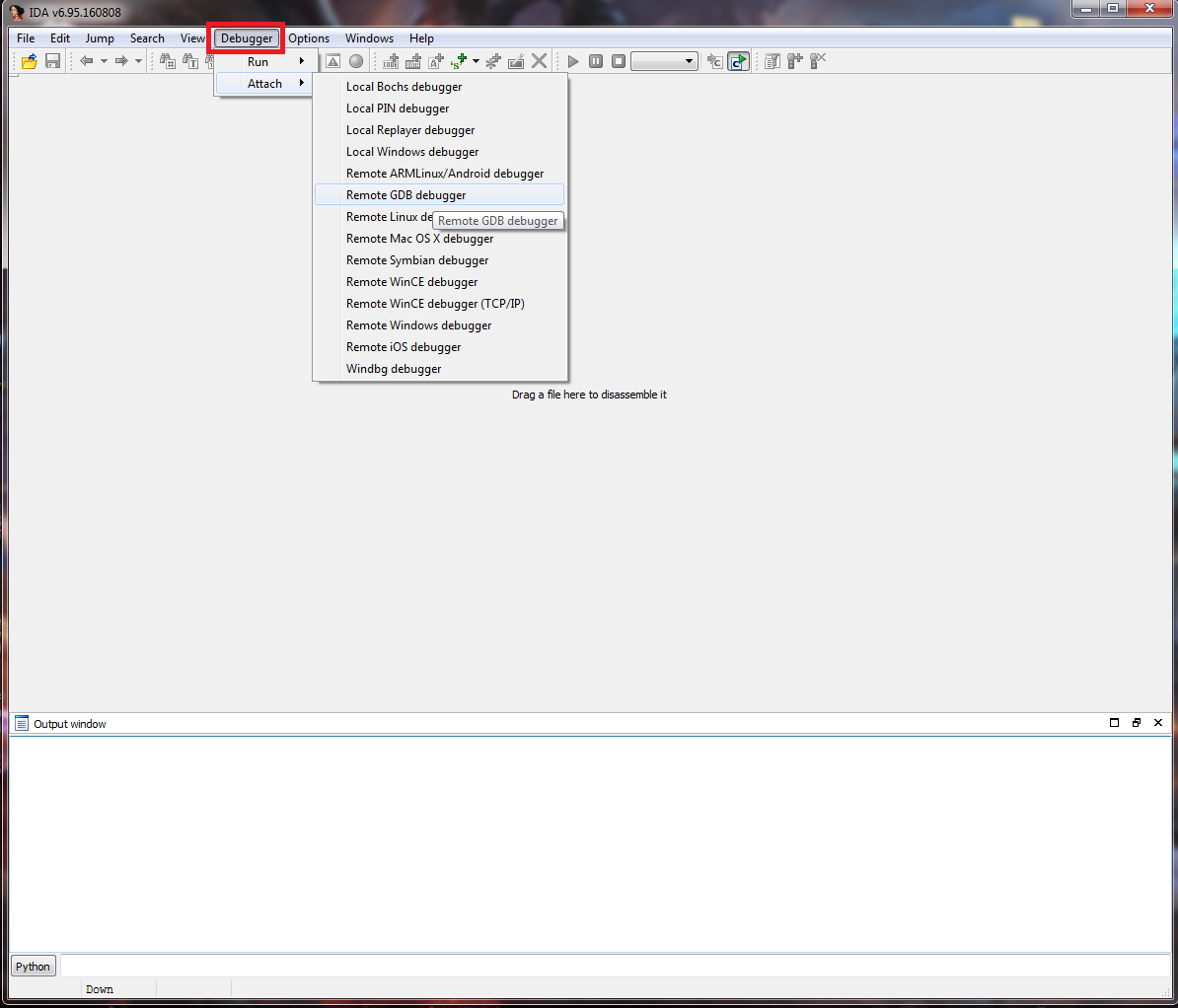 Setup - VMM debugging using VMware's GDB stub and IDA Pro