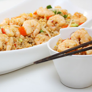 Garlic Prawn Fried Rice.