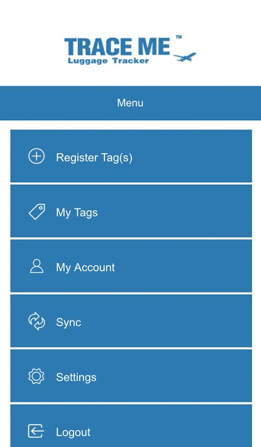 Trace Me Luggage Tracker- screenshot