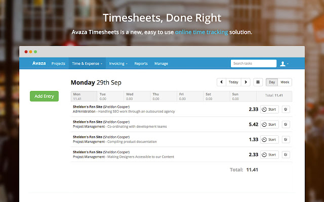 Avaza Invoices Timesheets Chrome Web Store - Project management software with invoicing