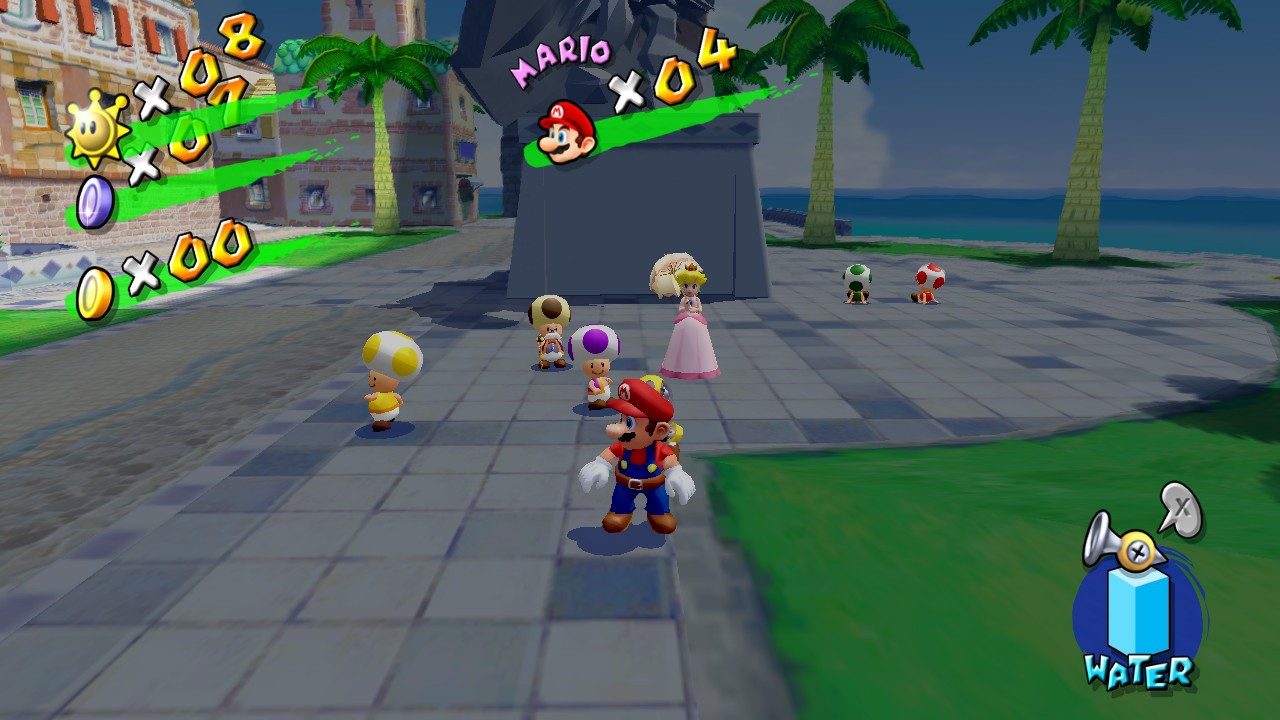 Super Mario Sunshine no Super Mario 3D All-Stars