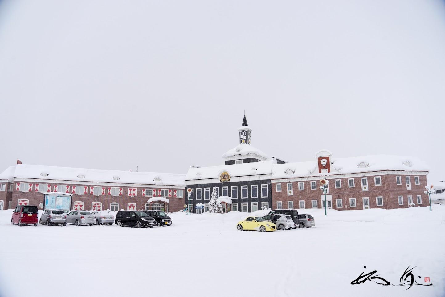 雪をかぶる北竜温泉