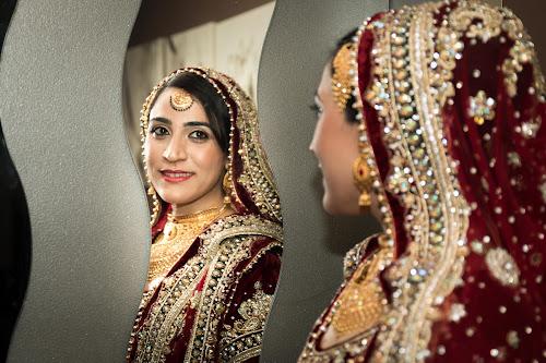 Portrait of a Pakistani Bride  by Faisal Enam - Wedding Reception ( pakistani, wedding, bride, red dress, portrait,  )