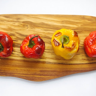 Cauliflower & Cheese Stuffed Bell Peppers