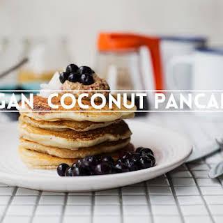 Vegan Coconut Pancakes.