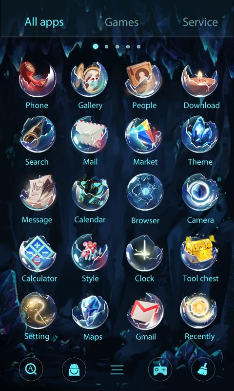 Скриншот Bright Pearl GO Launcher Theme