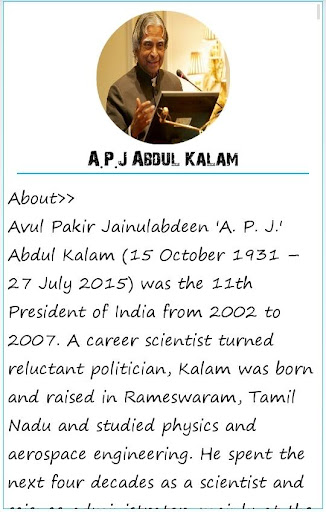 All About Dr. APJ Abdul Kalam