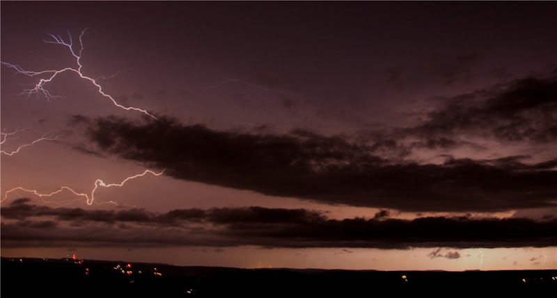 Photo: AccuFan Photo of the Day: Lightning in the night sky on July 15, 2012 in Chickaree, Pennsylvania by johnstownwildfire http://ow.ly/ciz5D