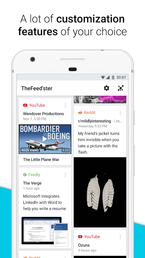 Feedster - News aggregator with smart features- screenshot
