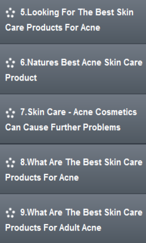Acne Care Products- screenshot
