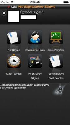 E-Okul Mobil - screenshot
