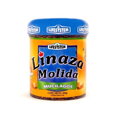 linaza molida mucilagos life system 250g