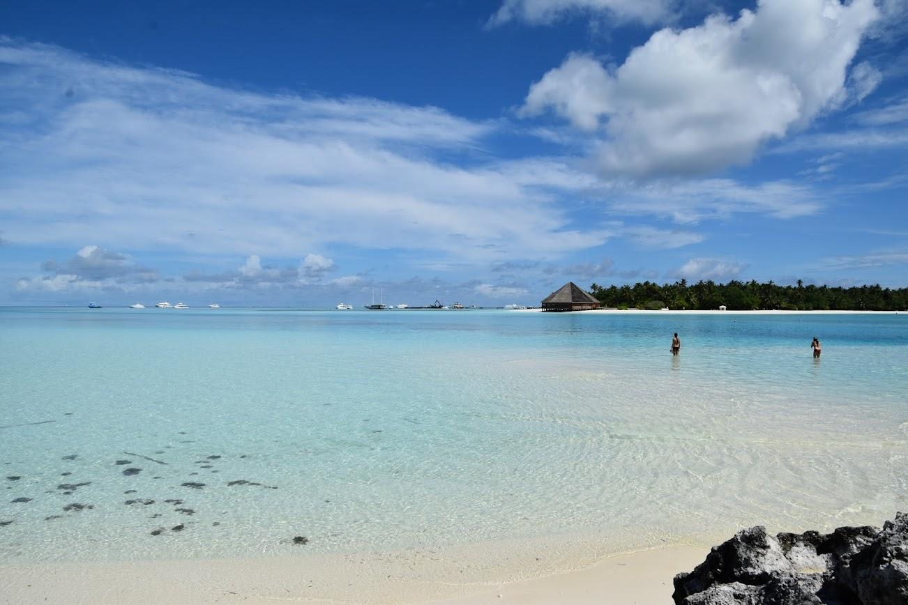 playa de Diffushi Maldivas