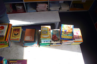 Photo: Some more of the numerous books donated by our friend Rupa.