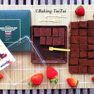 Homemade Nama Chocolate.