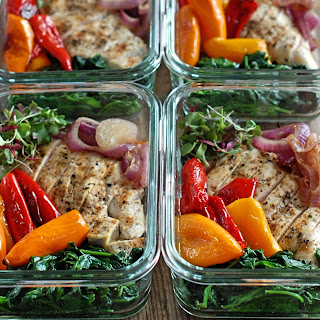 Roasted Sweet Pepper Meal Prep Bowls.