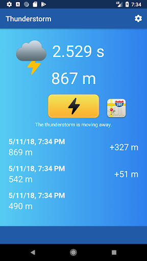 Thunderstorm - Distance from Lighting hack tool