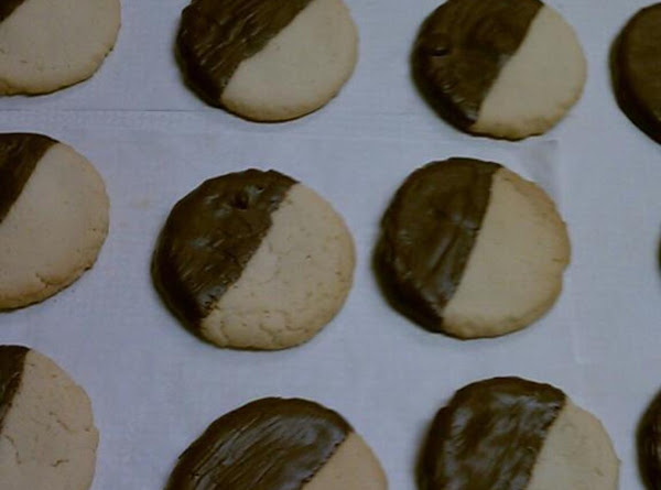 Chocolate Dipped Divinity Cookies Recipe