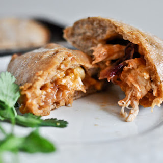 Mini Whole Wheat BBQ Chicken Calzones.