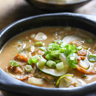 Korean Soybean Paste Soup.