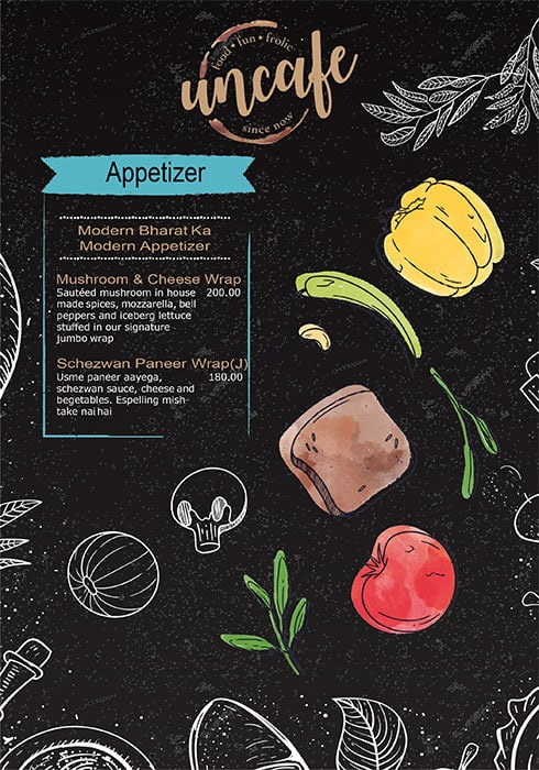 Uncafe menu 16