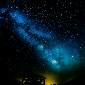 pump house sky by Richard Wright - Landscapes Starscapes ( nikon, mississippi, milky way,  )