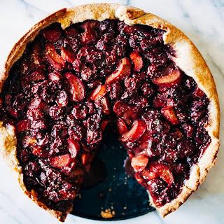 Rhubarb & Cherry Tart