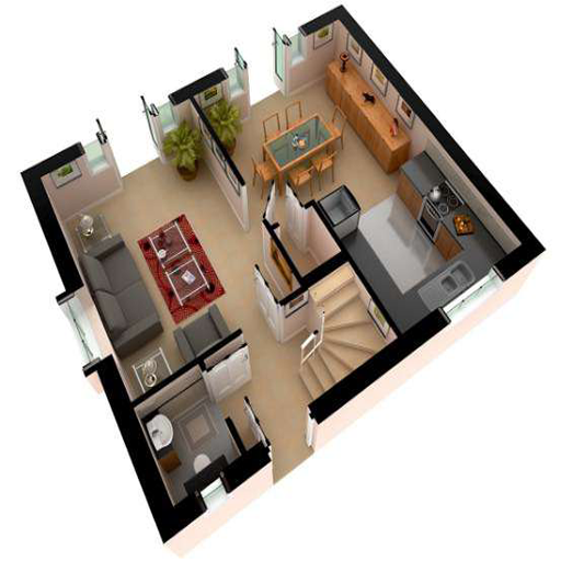 Traumhaus grundriss 3d  Neue 3D-Grundriss Haus. – Android-Apps auf Google Play