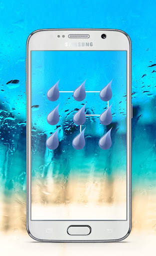 RainDrops Pattern Lock Screen