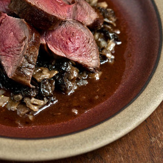 VENISON with MOREL SAUCE