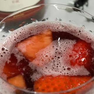 Cranberry and Strawberry Sangria.