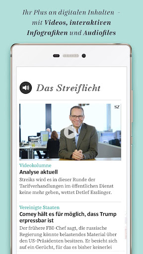 Süddeutsche Zeitung Zeitungsapp 4.1 screenshots 2